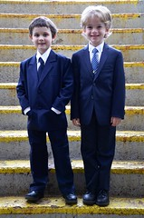 Charlie And Everett Before Their First Communion