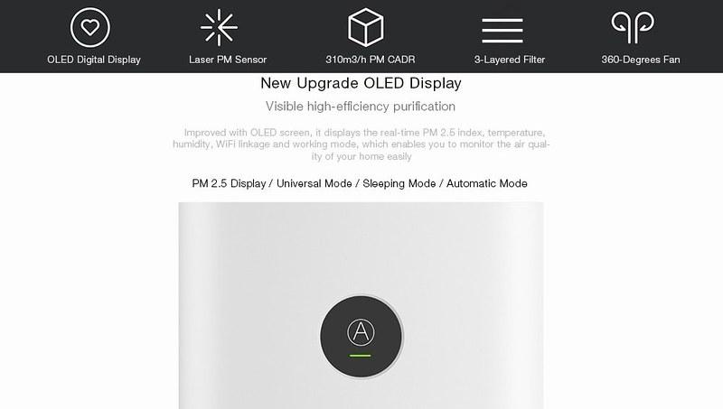 Xiaomi OLED Display Smart Air Purifier 2S レビュー (3)
