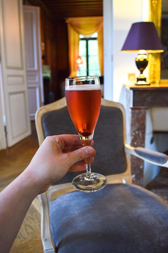 Kir Royal at Château les Muids #loire #france #travel