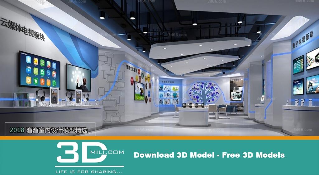 3d Exhibition Model : Exhibition shop dsmax file free download d mili