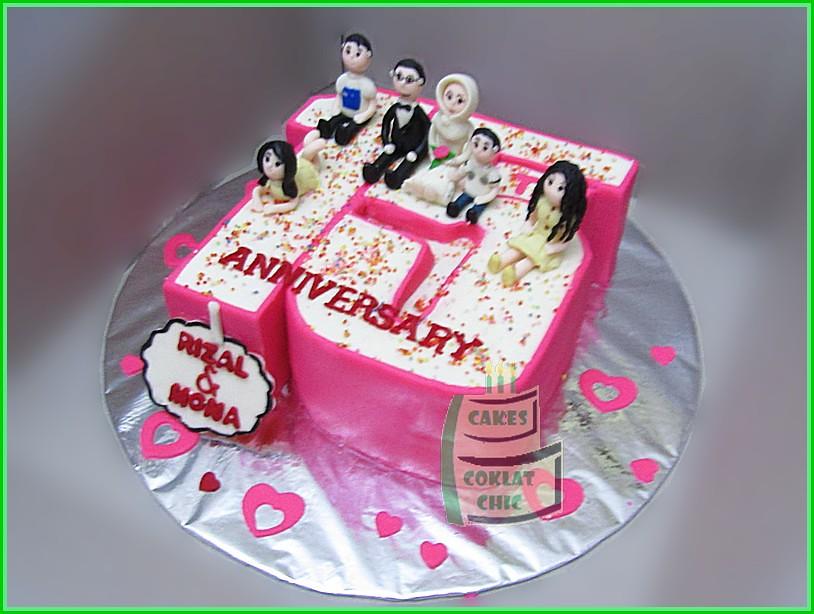 Cake Anniversary Family Angka 15 Rizal & Mona 20 cm