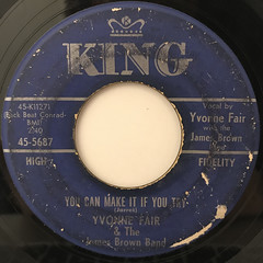 YVONNE FAIR & THE JAMES BROWN BAND:IT HURTS TO BE IN LOVE(LABEL SIDE-B)