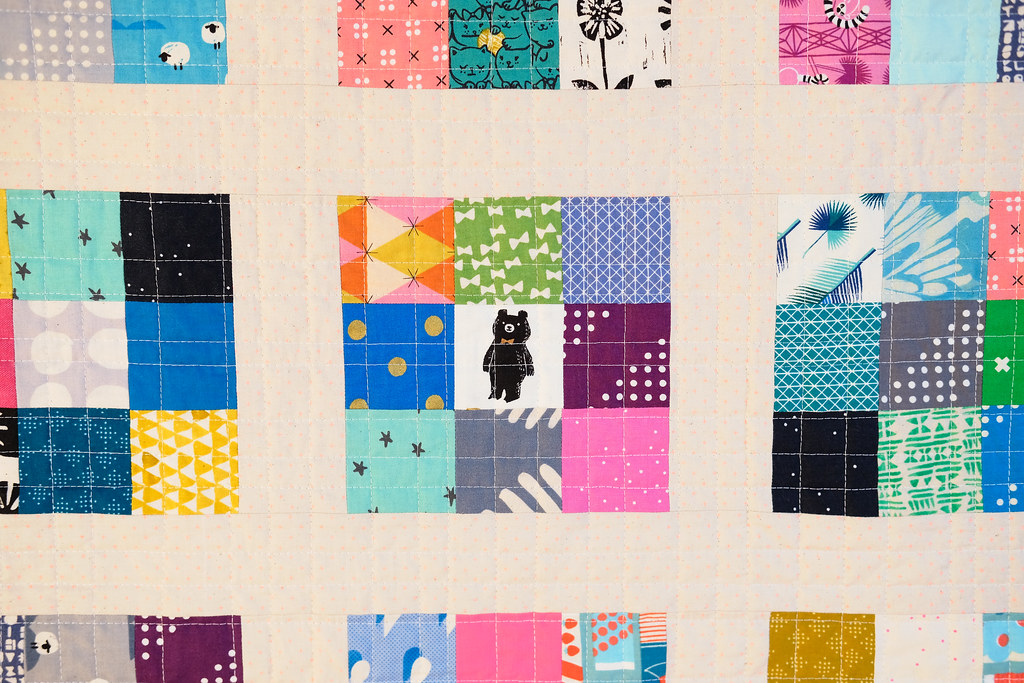 Cotton + Steel Modern Postage Stamp Quilt