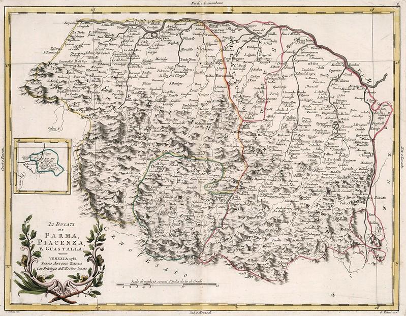 Antonio Zatta - Li Ducati di Parma, Piacenza, e Guastalla (1782)