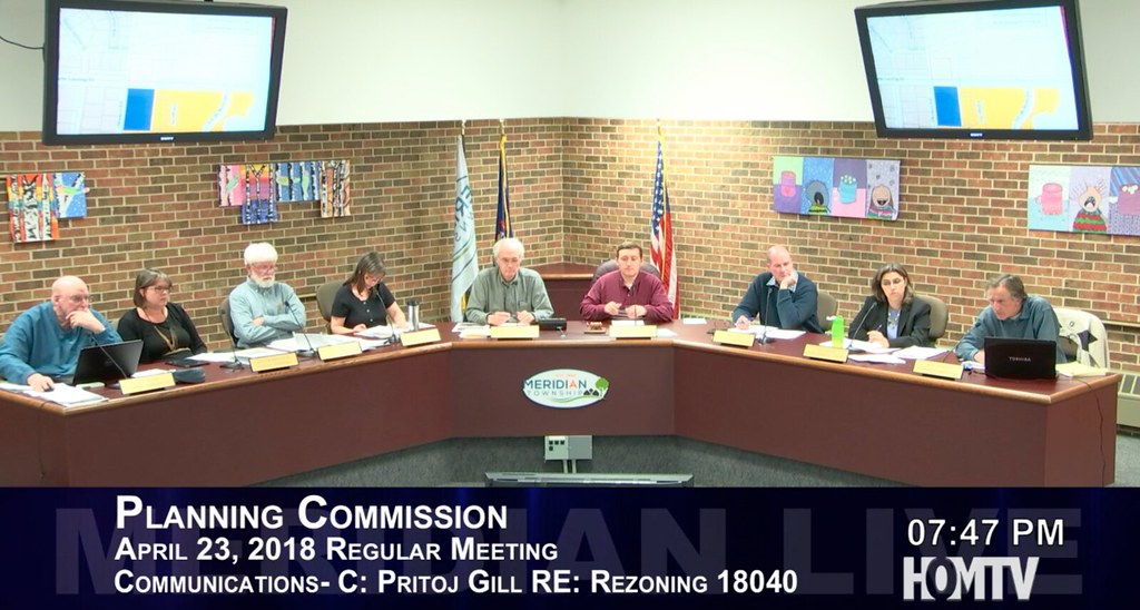 Planning Commission Took a Straw Vote on Rezoning on Lake Lansing Road