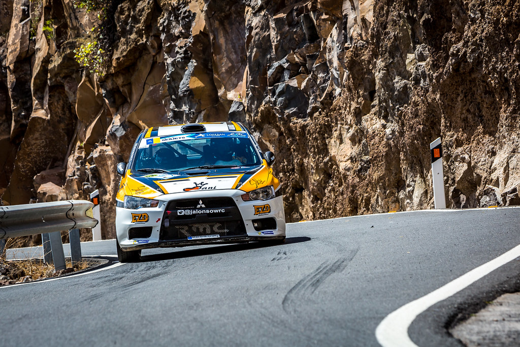 25 ALONSO Juan Carlo, MONASTEROLO Juan Pablo, MITSUBISHI LANCER EVO X, action during the 2018 European Rally Championship ERC Rally Islas Canarias, El Corte Inglés,  from May 3 to 5, at Las Palmas, Spain - Photo Thomas Fenetre / DPPI