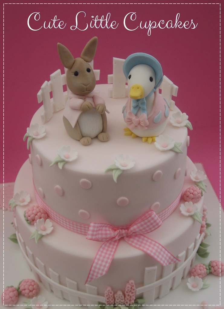 587e3f88ca59 ... Beatrix Potter Baptism Cake | by Cute Little Cupcakes / Heidi Stone