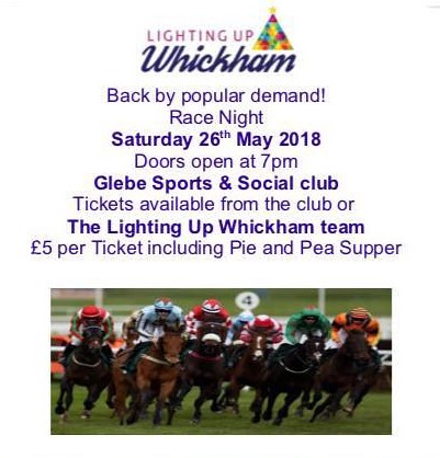 Lighting Up Whickham race night May 18