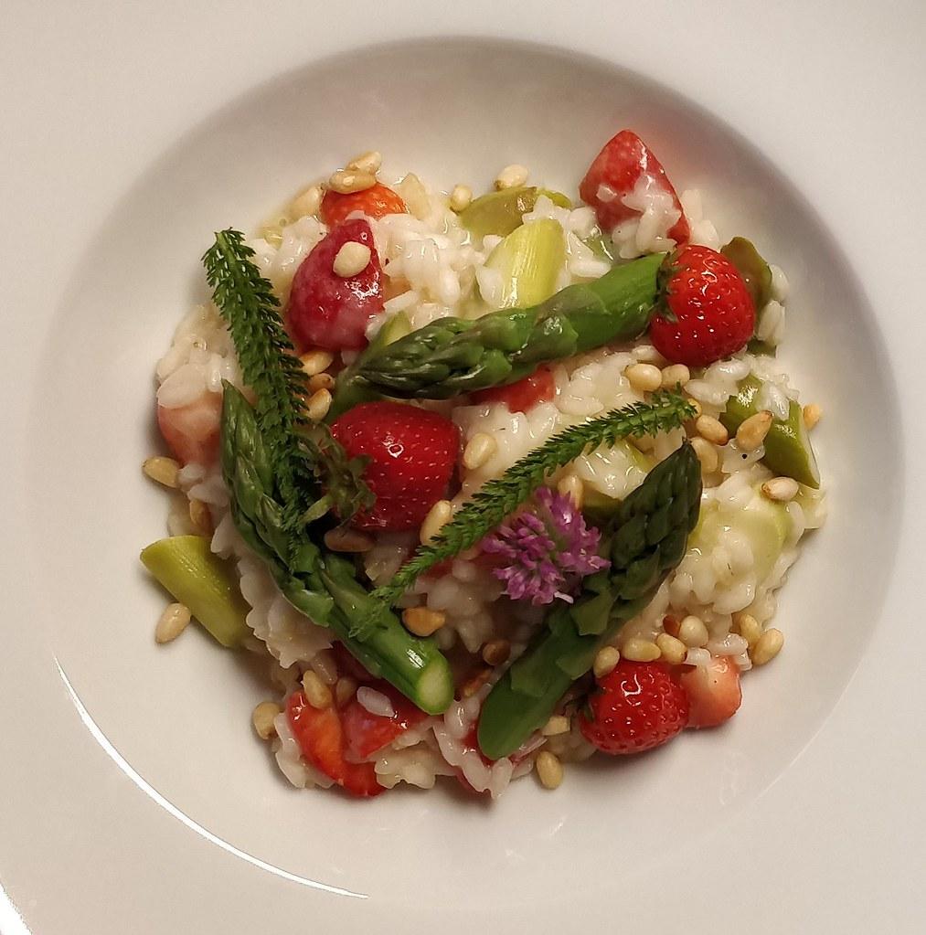 Spargel-Risotto mit Erdbeeren ohne ...