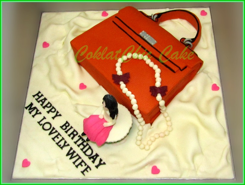 Cake branded bag for Wife 20 cm