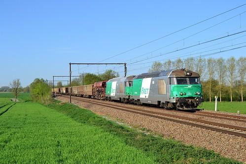 🇧🇪 SNCF FRET BB 67494 + BB 67544 + trein 49810 te Soignies