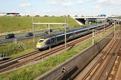 Eurostar 4025 neemt de Schiphol-tunnel op weg naar Brussel en Londen. 20180426_IMG_9743