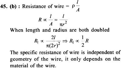 NEET AIPMT Physics Chapter Wise Solutions - Current Electricity explanation 45