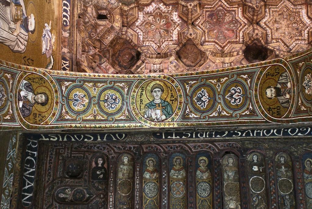 Plafond de la chapelle palatine à Palerme.