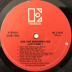 DEE DEE BRIDGEWATER:JUST FAMILY(LABEL SIDE-B)