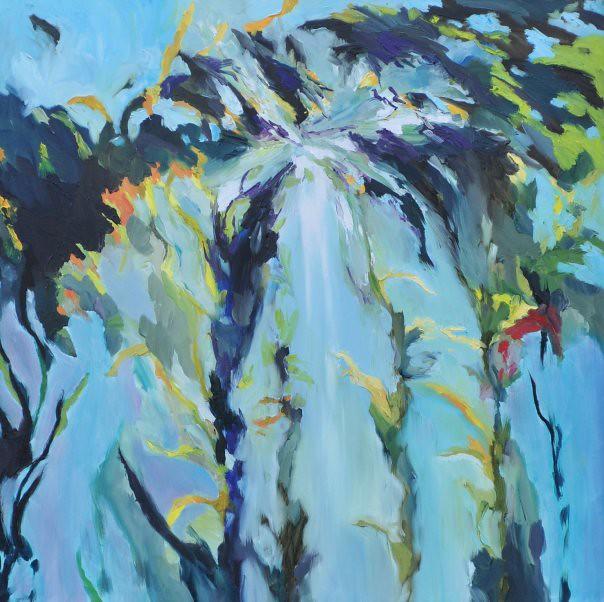 Acquatica - 90x90 cm. Oil on canvas 2009