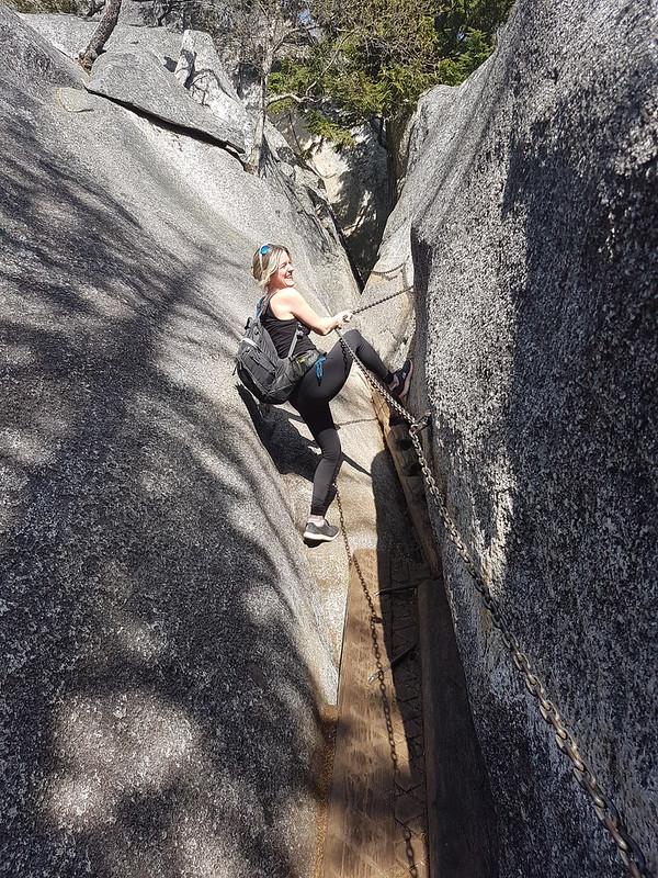 Hiking up the Stawamus Chief