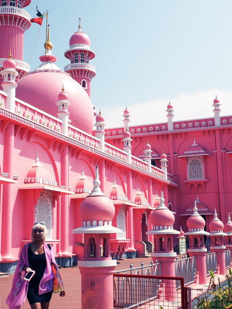beempally mosque selfie kerela pastel pink mosque_effected