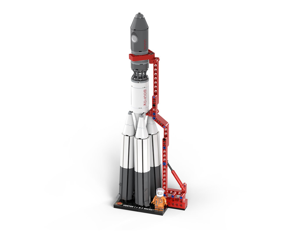 Vostok 1 model in LEGO
