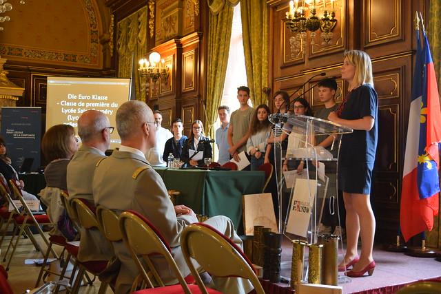 Journée académique du Centenaire dans l'académie de Lyon à l'Hôtel de ville de Lyon