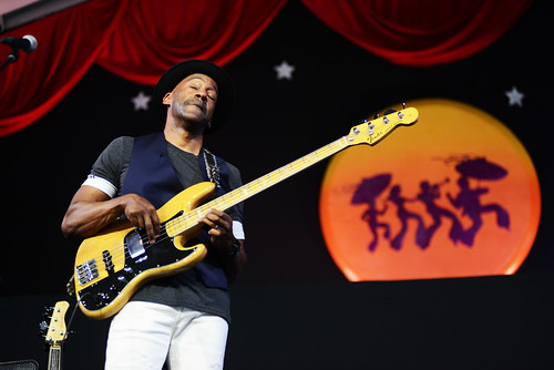 Marcus Miller on Day 5 of Jazz Fest - 5.4.18. Photo by Leon Morris.