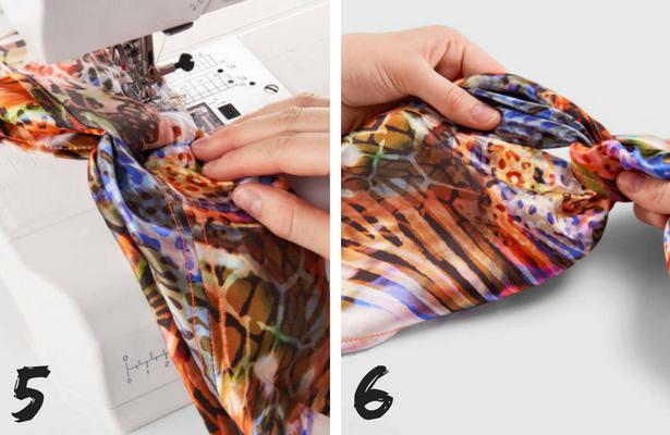 Wrap Headband Steps 5 6
