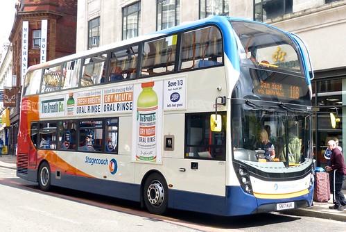 SN17 MJK 'Stagecoach Manchester' No. 10849. 'ADL' E40D / 'ADL' Enviro 400MMC on 'Dennis Basford's railsroadsrunways.blogspot.co.uk'