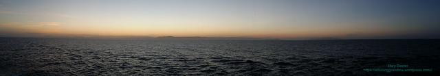 Sunset leaving La Paz Mexico