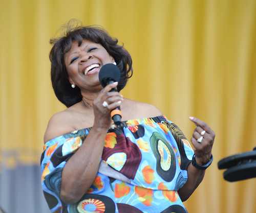Irma Thomas performs at the tribute to Fats Domino on Day 2 of Jazz Fest - 4.28.18. Photo by Leon Morris.