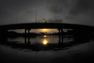 Sunset at Camboriú River