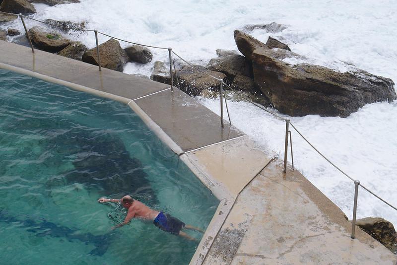 Wild ocean, calm pool