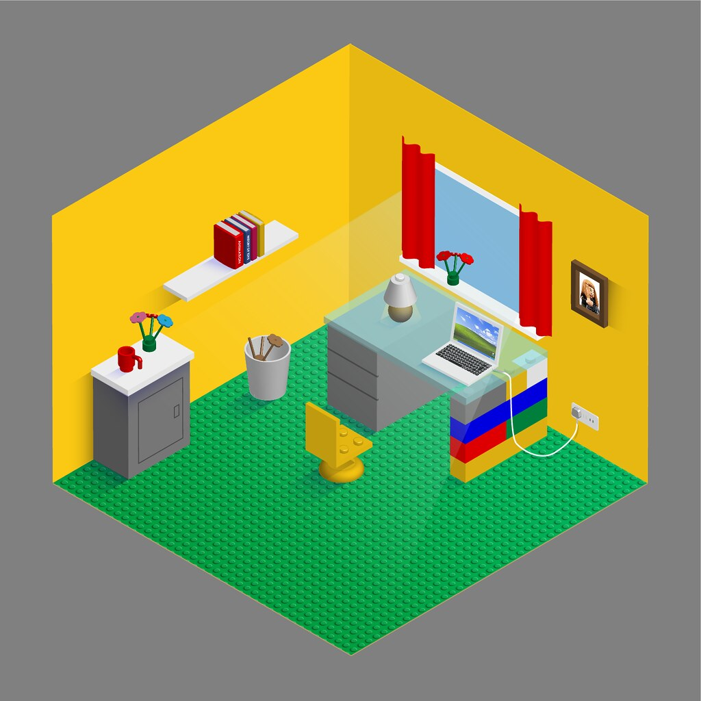 Lego Style Home Office