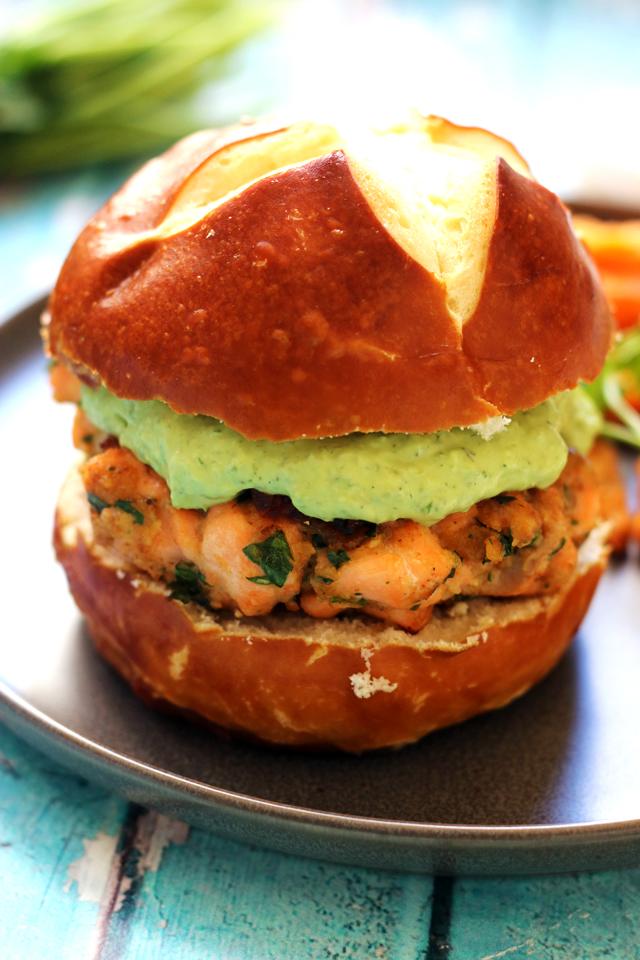 Green Goddess Salmon Burgers