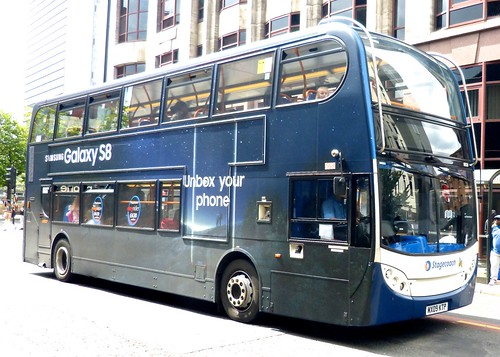 MX09 KTP 'Stagecoach Manchester' No. 19531, 'Galaxy S8'. Dennis Trident 2 / 'ADL' Enviro 400 on 'Dennis Basford's railsroadsrunways.blogspot.co.uk'