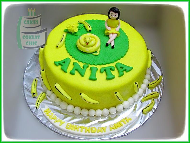Cake Banana & snake ANITA 18 cm