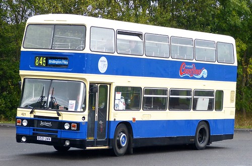 B521 UWW 'Yorkshire Coastliner' No. 421 Leyland Olympian ONLXB/1R / ECW on Dennis Basford's railsroadsrunways.blogspot.co.uk