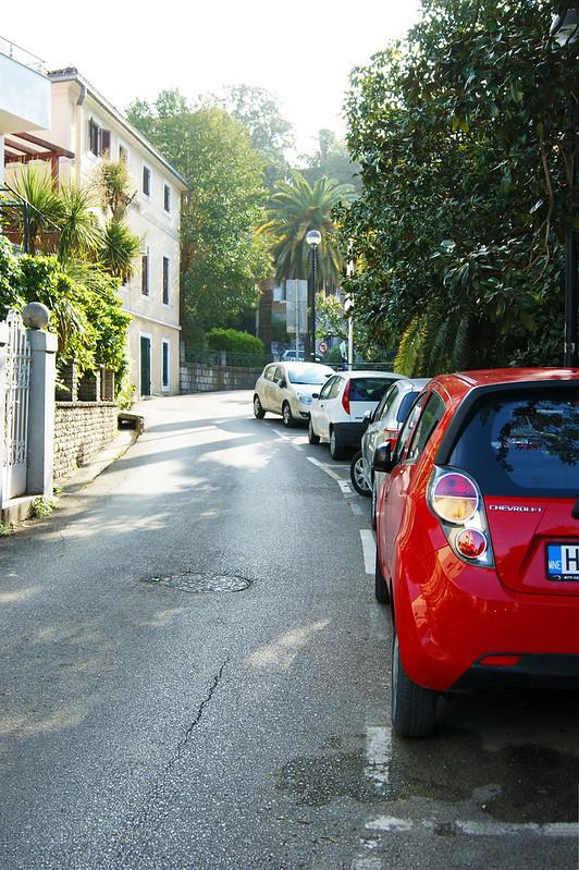 Парковка в центре Херцег Нови