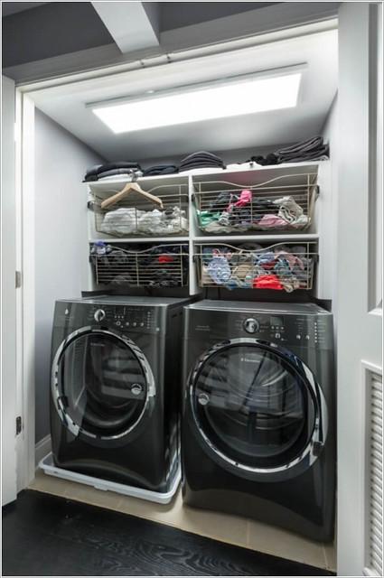 Storage Ideas for a Closet Laundry Room