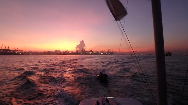 Sunrise heading towards Cyrene Reef