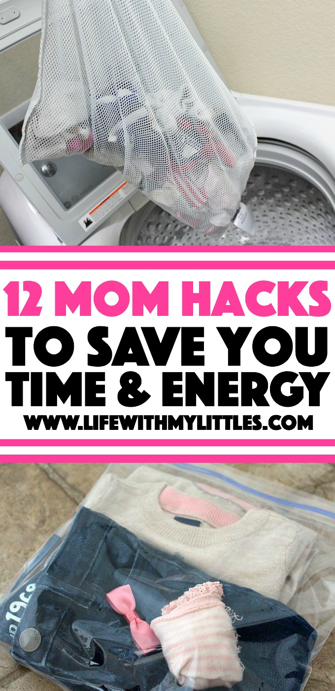 12 Mom hacks to make life easier. Love these helpful suggestions!