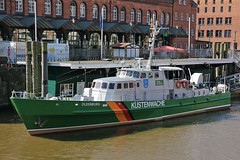 Customs Cutter at the Zoll Museum in the Old Warehouse District Hamburg 22 April 2018