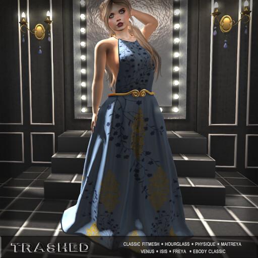 <Trashed> fern gown Blue - TeleportHub.com Live!