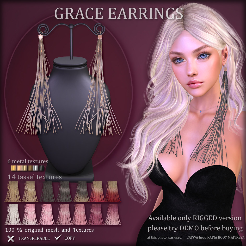 GRACE EARRINGS (at FaMESHed)