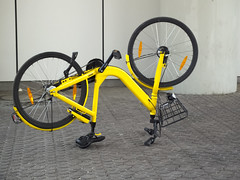 yellow bike says What