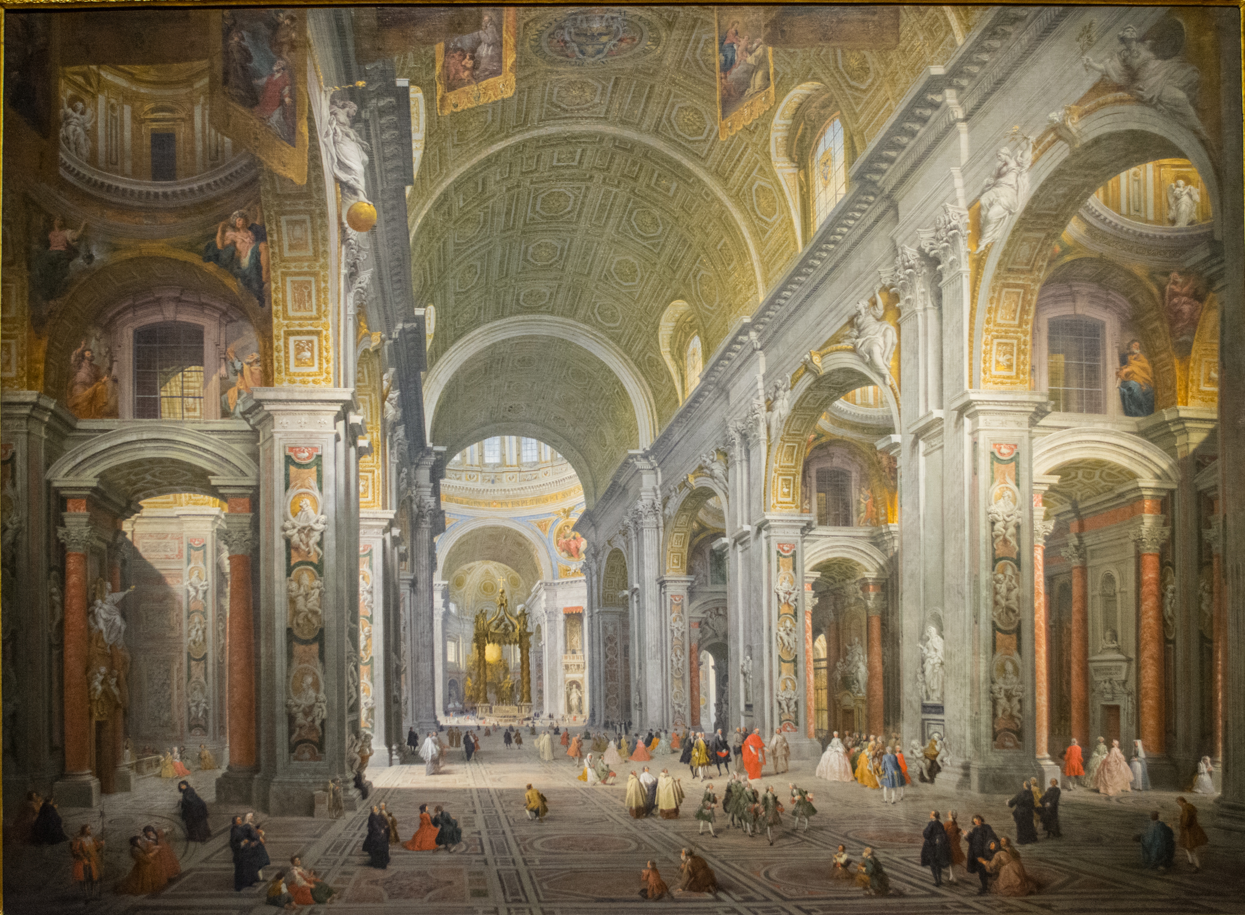 Visit of Duc du Choiseul to St Peter's - Giovanni Paulo Panini