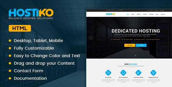Hostiko - HTML WHMCS Hosting Theme