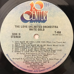 THE LOVE UNLIMITED ORCHESTRA:WHITE GOLD(LABEL SIDE-B)