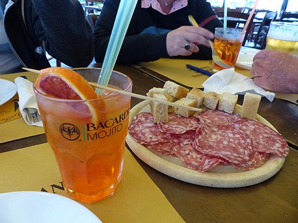 spritz et salami