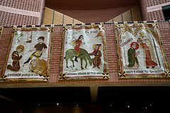 Medieval inspired tapestries, Évry cathedral - Photo of Évry
