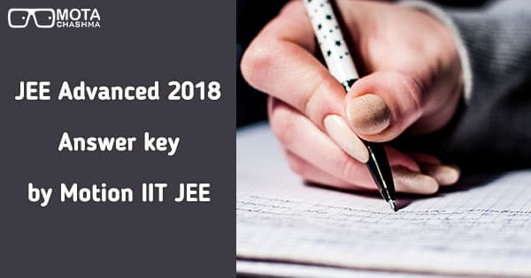 jee advanced answer key by motion iit jee